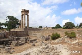 Distances Galaxias the Acropolis monument of Rhodes Island