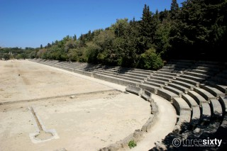 Location Galaxias the Ancient Stadium of Rhodes Island is a must-visit monument