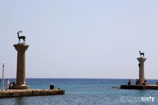 Location Galaxias Mandraki famous Port of Rhodes Island
