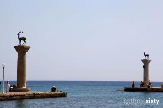 Location Galaxias Mandraki famous Port of Rhodes Island