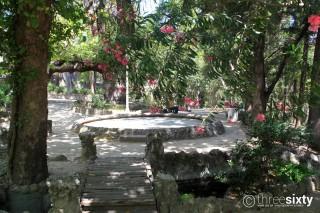 Location Galaxias Rodini Park is a landmark of Rhodes Island