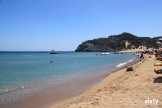 Location Galaxias Tsampika sandy Beach in Rhodes, ideal for families with children