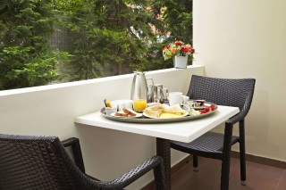 Standard Room Galaxias Balcony where you can get your breakfast