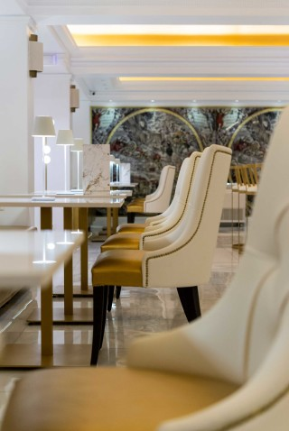 gallery galaxias hotel sitting areas with extremely comfortable seats and tables