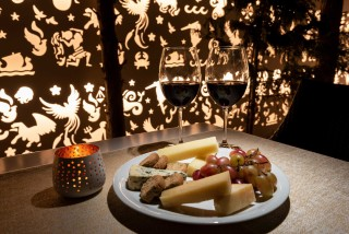 gallery galaxias hotel in the bar you can taste red wine and finger food, such as cheese and fruits
