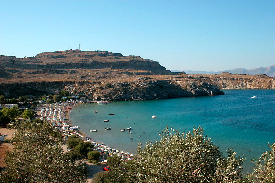 lindos beaches